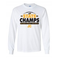 Johnson Central 4A State Champs White Long Sleeve T-Shirt